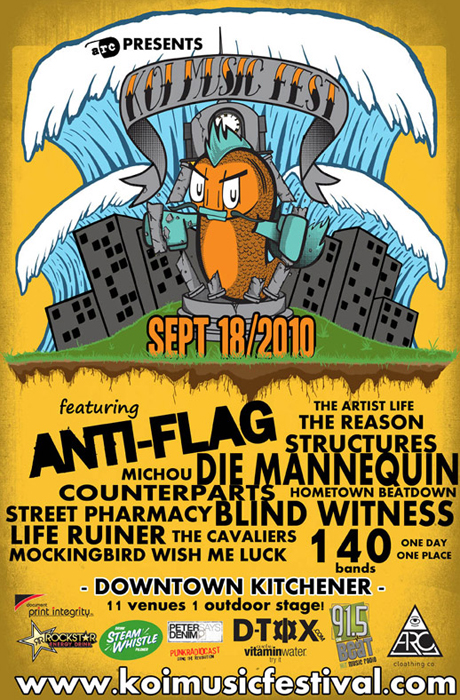 Die Mannequin, Anti-Flag and More Play Kitchener Ontario Independent Music Festival This Weekend