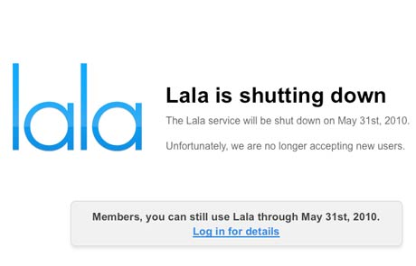 Lala Announces Shutdown