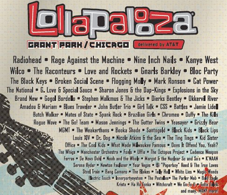 Lollapalooza Announces Full Line-Up