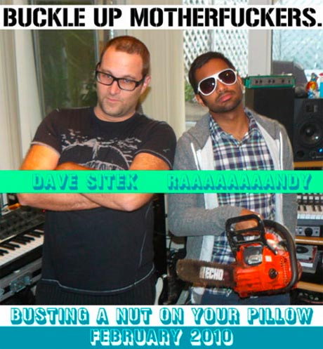 Aziz Ansari <i>Busting a Nut on Your Pillow</i> with Dave Sitek on New Mixtape