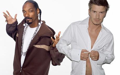 Snoop Dogg and David Beckham To 'Save Lives' With Football - Both Kinds!