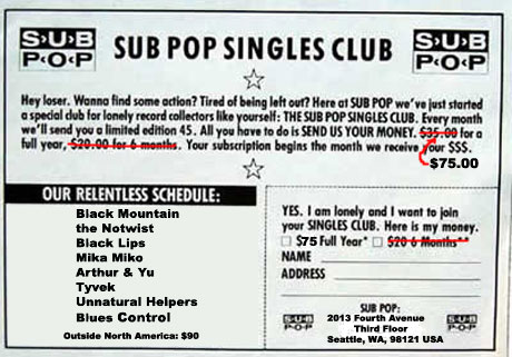 Sub Pop Resurrect Singles Club