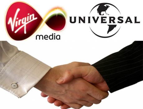 Virgin Media, Universal Strike Up Unlimited Download Deal