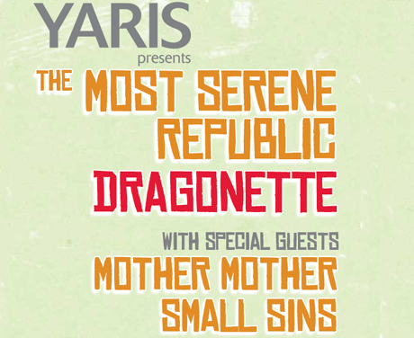 Read Exclaim!'s Exclusive Interviews With Yaris Tour Stars the Most Serene Republic, Dragonette and Mother Mother