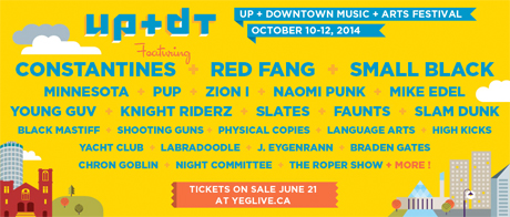 Edmonton's Up + Downtown Festival Bring out Constantines, Red Fang, Small Black, PUP