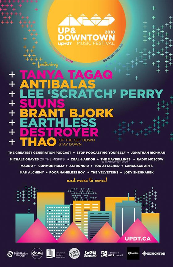 Edmonton's Up and Downtown Music Festival Reveals Initial 2018 Lineup