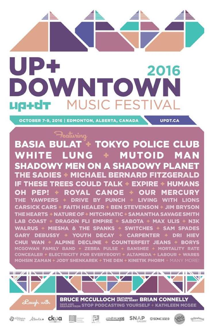 ​Edmonton's Up + Downtown Music Festival Reveals Initial 2016 Lineup