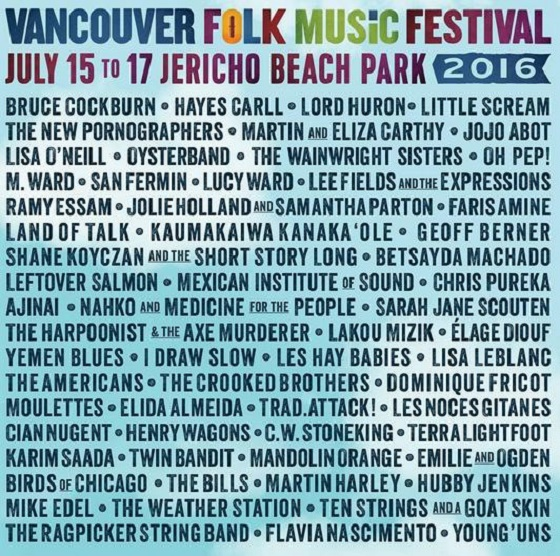 Vancouver Folk Festival Brings Out New Pornographers, M. Ward, Little Scream for 2016 Edition