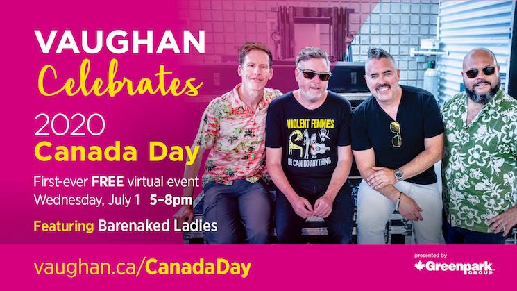 Barenaked Ladies to Headline Vaughan's Virtual Canada Day Celebration