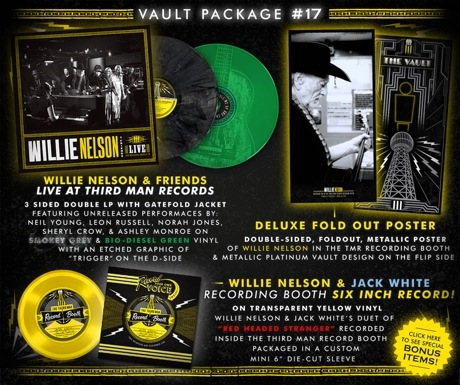 Willie Nelson Gets 'Live at Third Man Records' Album Featuring Neil Young, Jack White, Norah Jones