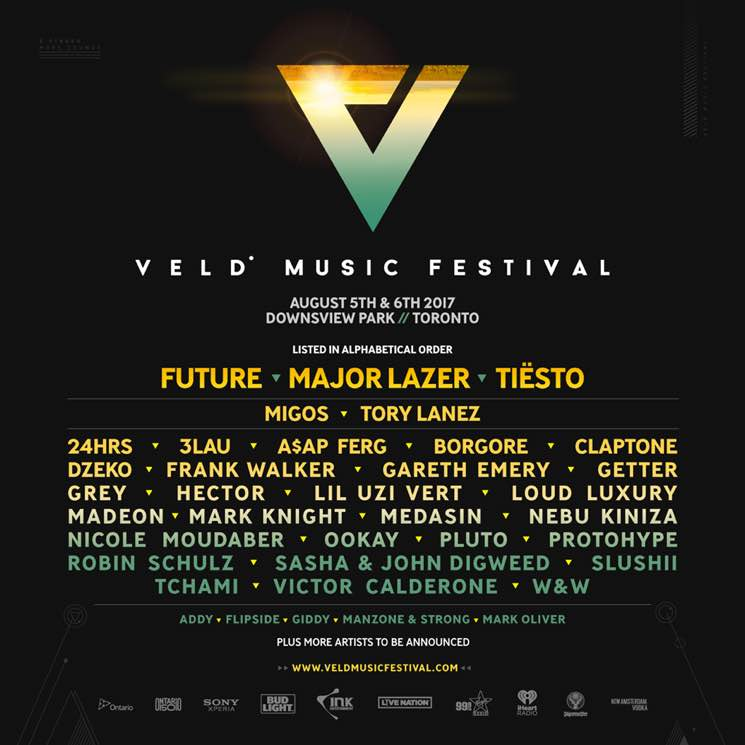 ​VELD Music Festival Gets Future, Major Lazer, Tiësto, Migos, Tory Lanez for 2017 Lineup