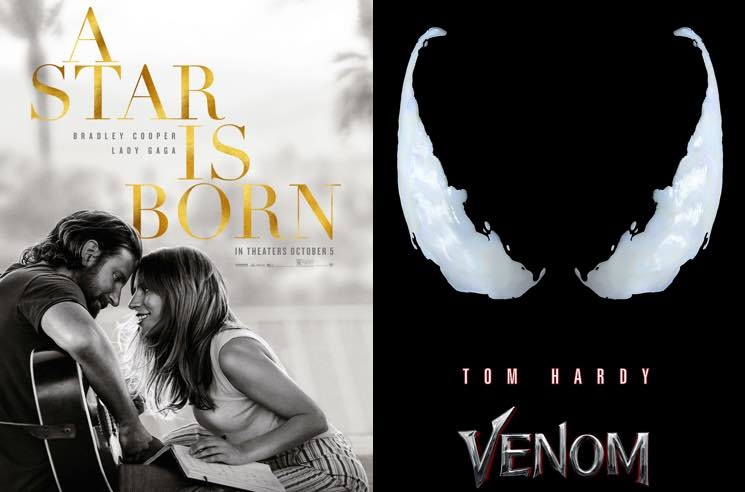 Lady Gaga Fans Are Posting Fake Bad 'Venom' Reviews to Boost 'A Star Is Born' at the Box Office