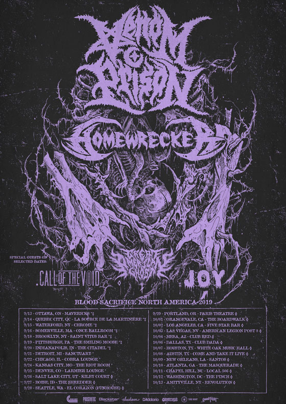 Venom Prison and Homewrecker to Play Canada on Fall Tour