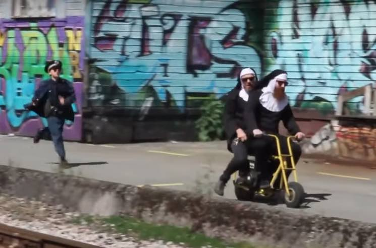 ​The Vicious Cycles Become Bike-Riding Nuns in 'High Noon Scramble' Video
