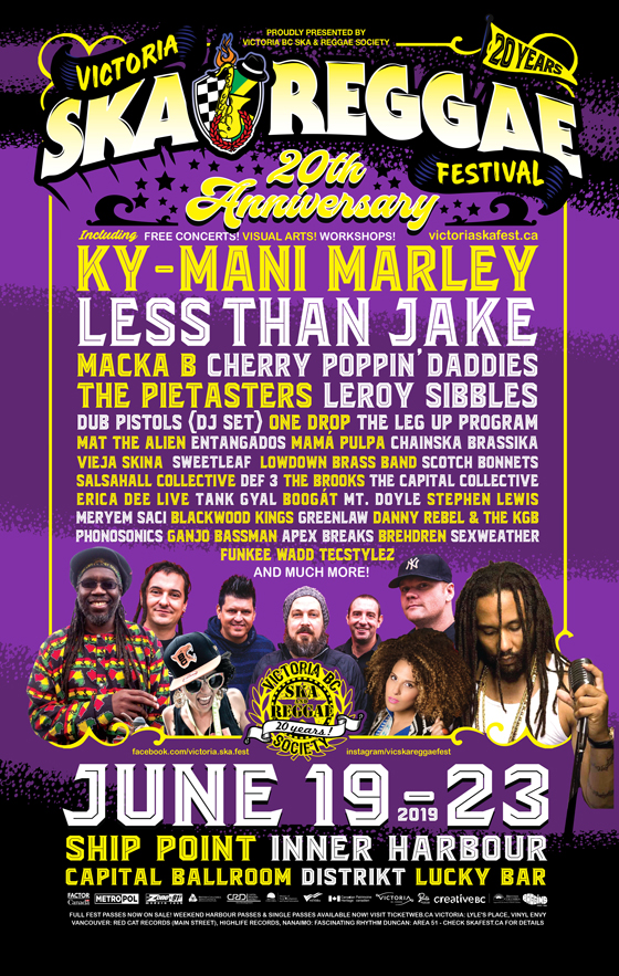 Victoria Ska & Reggae Festival Reveals 2019 Lineup with Ky-Mani Marley, Less Than Jake
