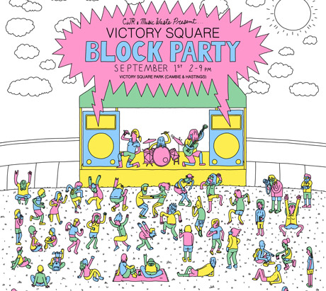 Vancouver's Victory Square Block Party Brings out Slam Dunk, the Courtneys, Jay Arner, Young Braised