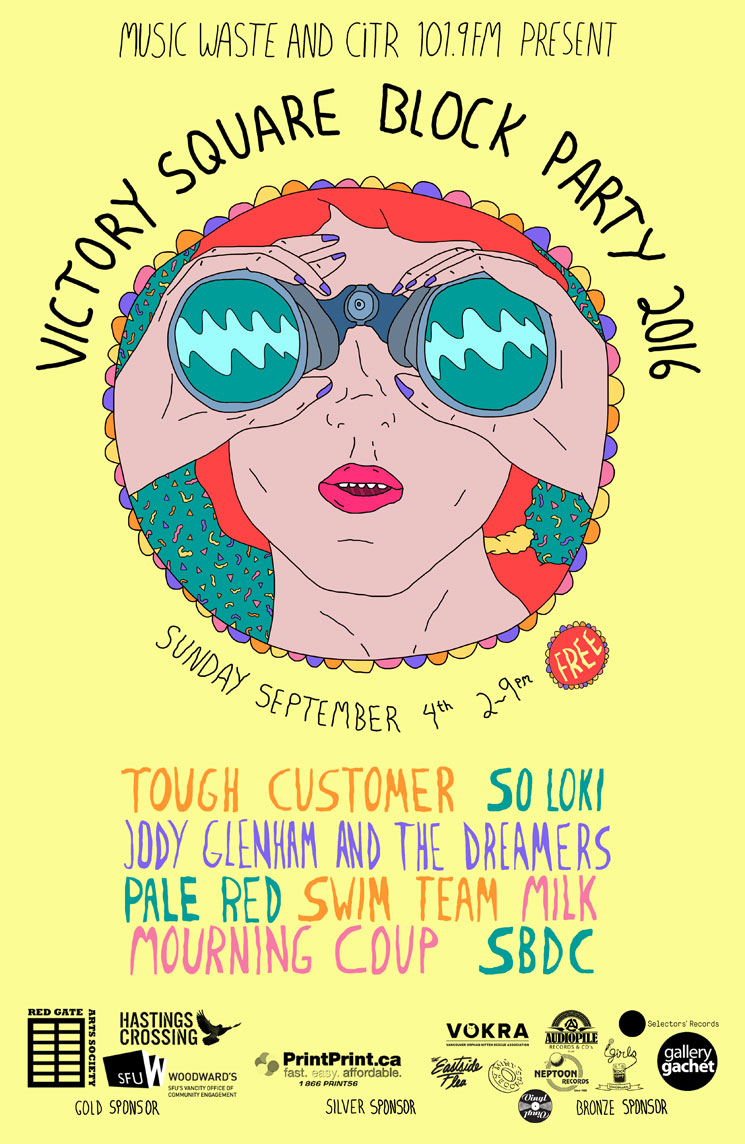 Vancouver's Victory Square Block Party Reveals 2016 Lineup with Jody Glenham, Milk, SBDC, Mourning Coup