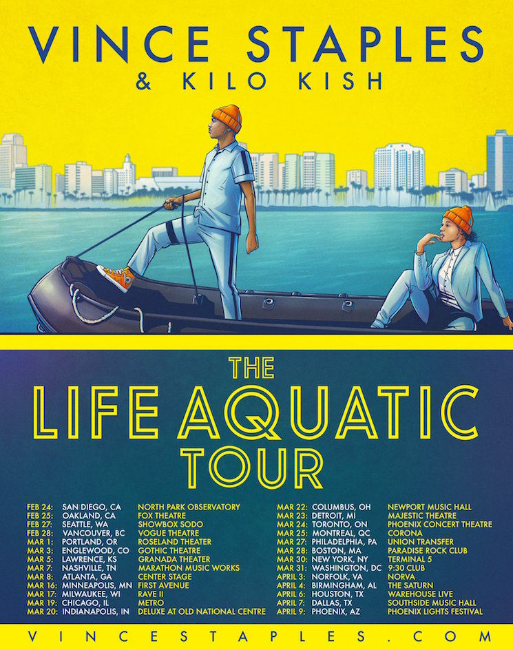"Vince Staples and Kilo Kish Embark on ""The Life Aquatic Tour"""