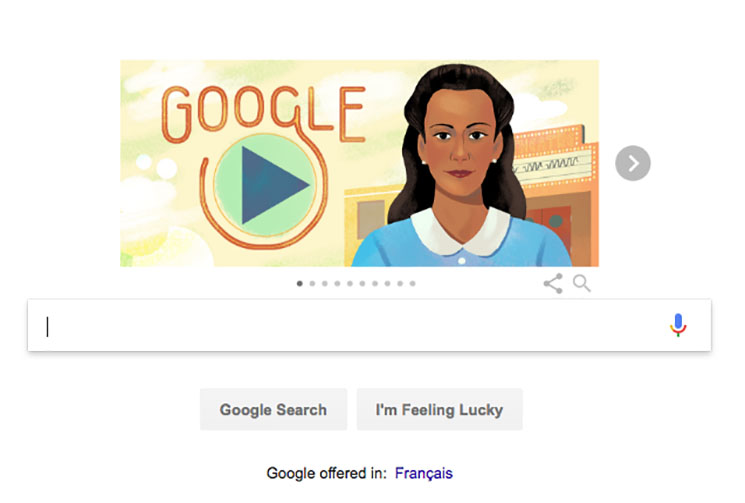 Viola Desmond Celebrated with Google Doodle Depicting Movie Theatre Protest