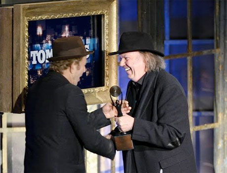Tom Waits Rock and Roll Hall of Fame Induction with Neil Young