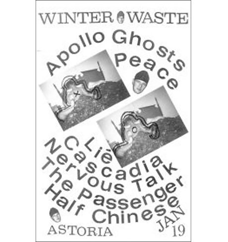 Music Waste Books Peace, Apollo Ghosts for 'Winter Waste'