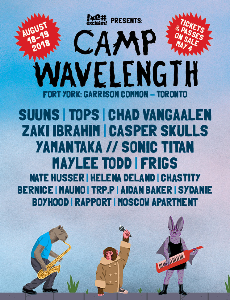 Camp Wavelength Unveils 2018 Lineup with Suuns, TOPS, Chad VanGaalen
