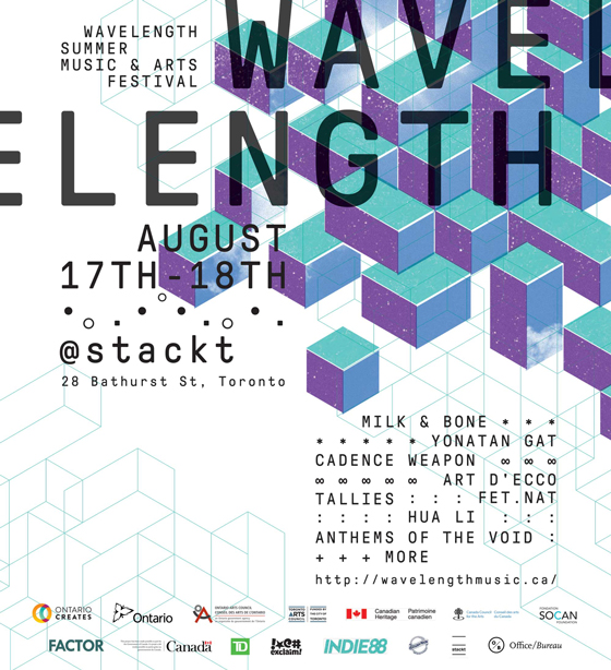 Wavelength Gets Milk & Bone, Cadence Weapon, Fet.Nat for Summer Festival