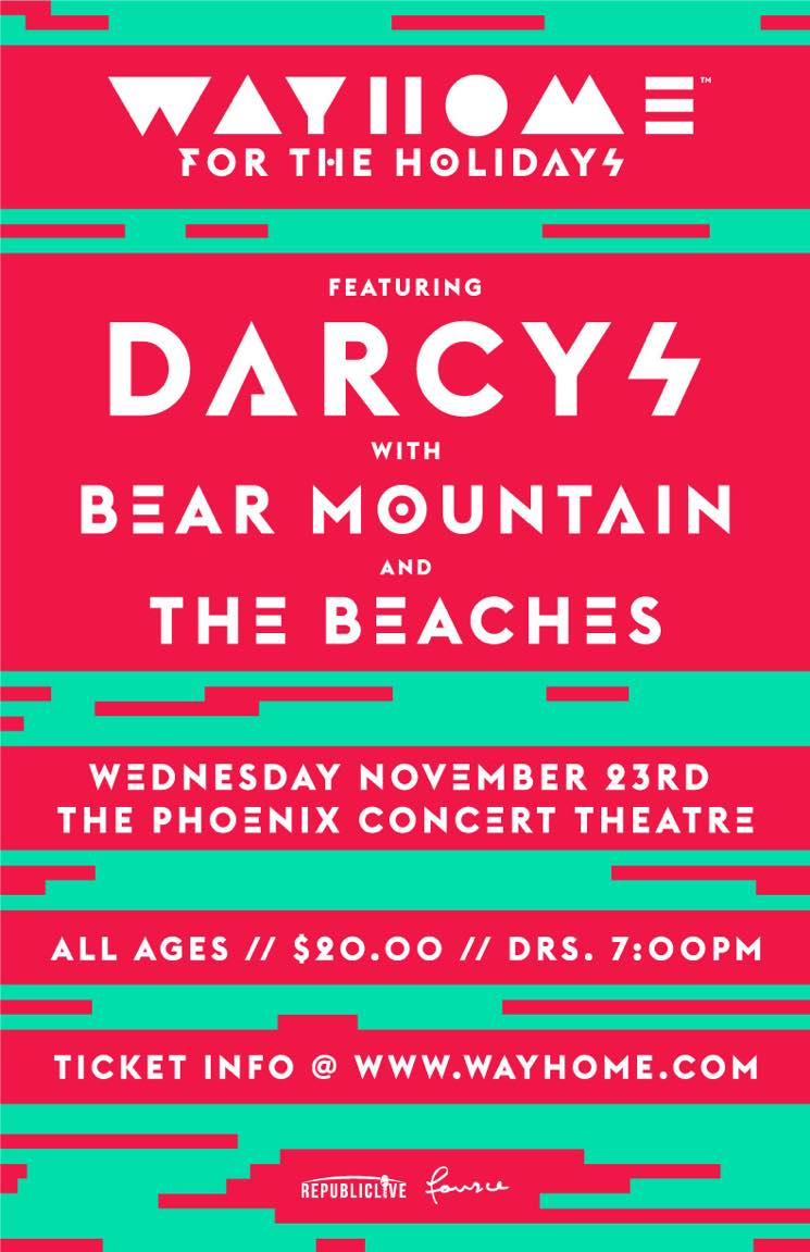 "The Darcys, Bear Mountain and the Beaches Team Up for ""WayHome for the Holidays"" Show"