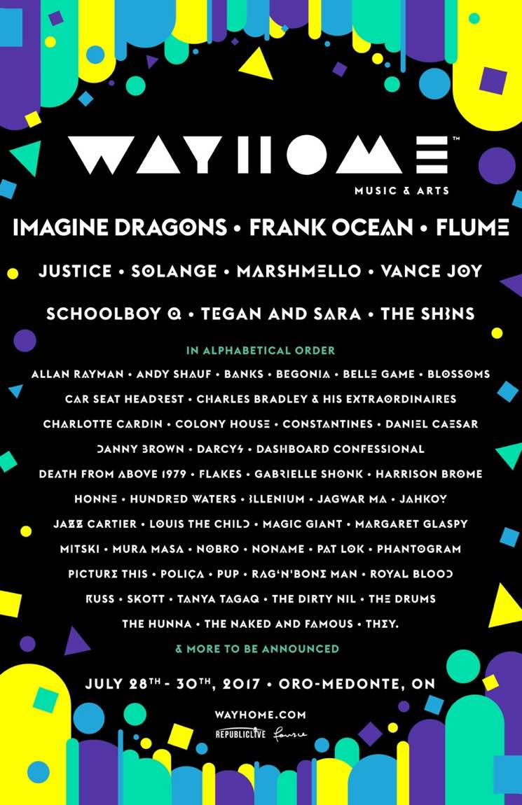 WayHome Reveals Official 2017 Lineup