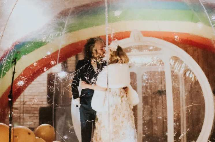 Wayne Coyne of the Flaming Lips Actually Got Married Inside That Giant Plastic Bubble