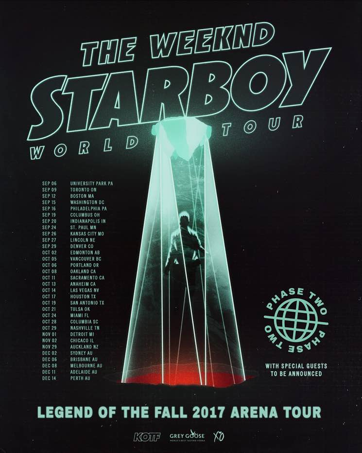 "​The Weeknd Adds ""Phase Two"" Dates to ""Starboy: Legend of the Fall"" Tour"