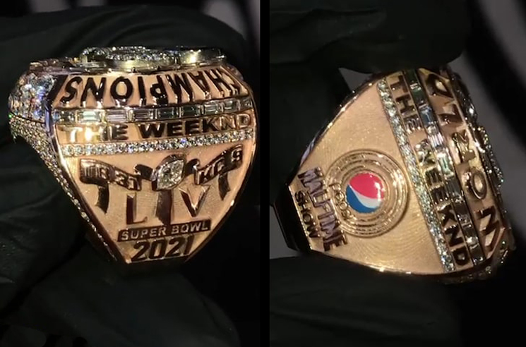 The Weeknd Is Celebrating His Super Bowl Halftime Show with a Championship Ring