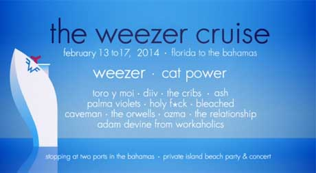 The Weezer Cruise Gets Cat Power, Toro y Moi, DIIV, Holy Fuck for 2014 Voyage