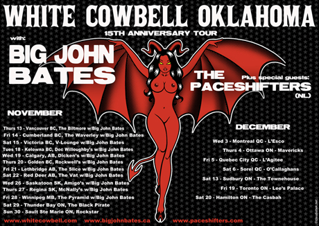 White Cowbell Oklahoma Head Out on Canadian Fall Tour with Big John Bates and the Paceshifters