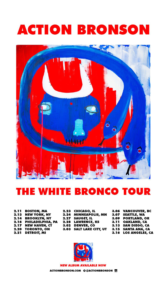 "Action Bronson Plots ""The White Bronco Tour"""