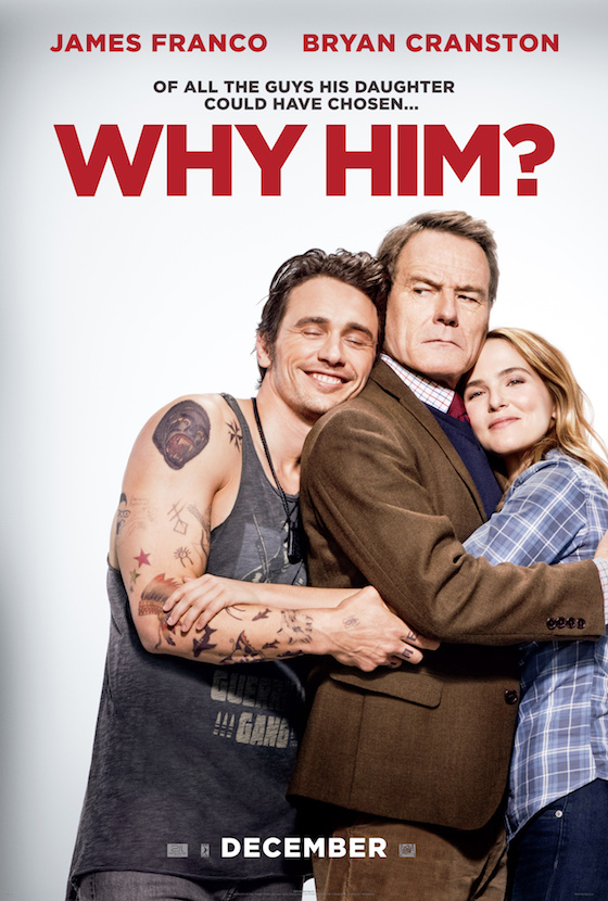 James Franco and Bryan Cranston Face Off in NSFW 'Why Him?' Trailer