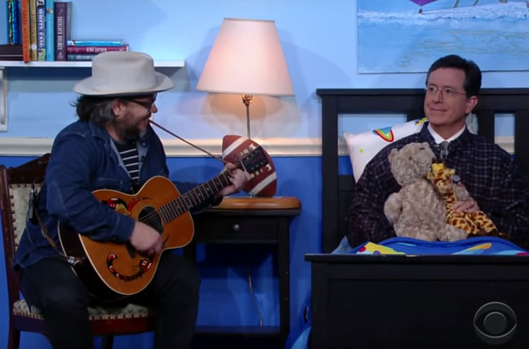 """Watch Wilco Serenade Stephen Colbert with """"Random Name Generator"""" and a Lullaby"""