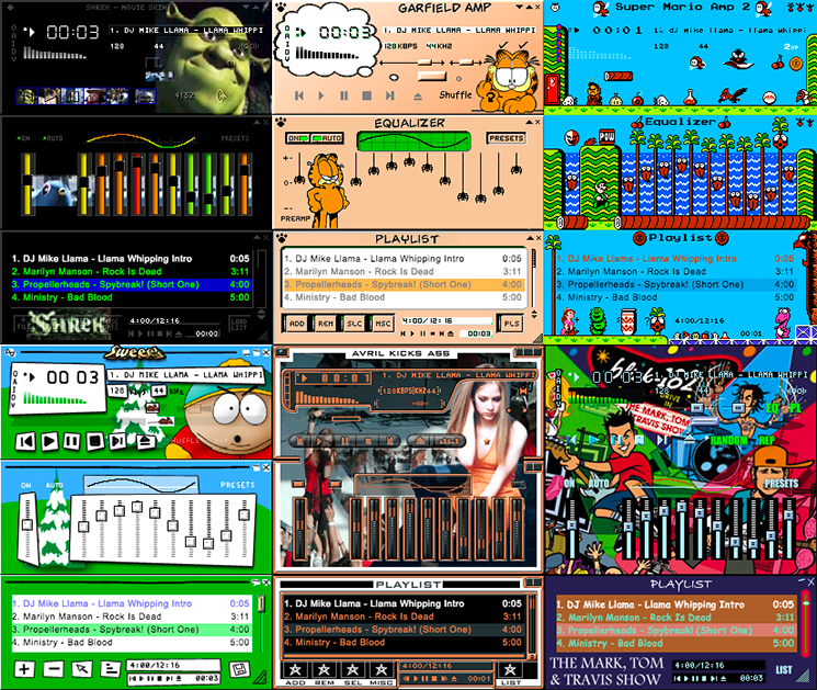 The Winamp Skin Museum Really Whips the Llama's Ass