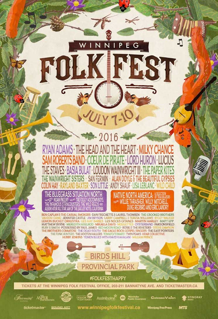 Winnipeg Folk Fest Rolls Out 2016 Lineup