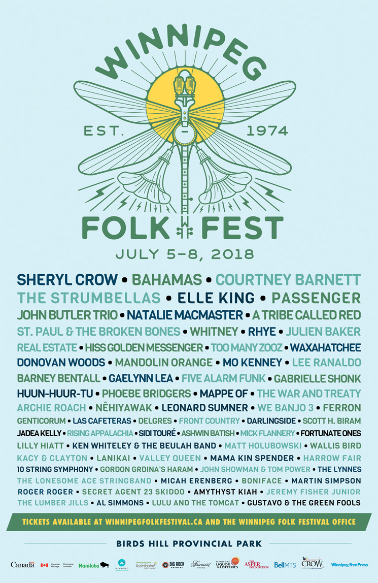Winnipeg Folk Fest Unveils 2018 Lineup with Sheryl Crow, Bahamas, Courtney Barnett