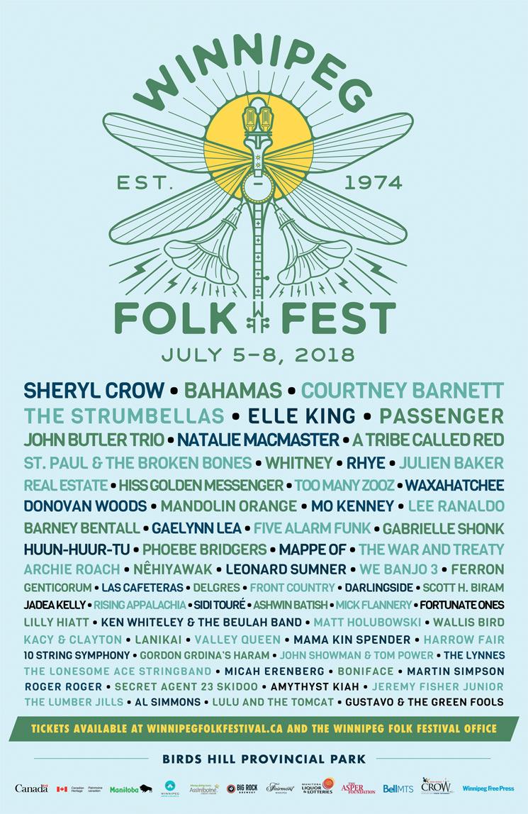 Winnipeg Folk Fest Unveils 2018 Lineup with Sheryl Crow, Bahamas, Courtney Barnett