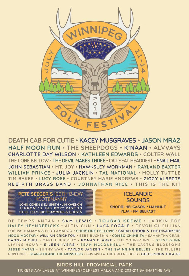 Winnipeg Folk Festival Unveils 2019 Lineup with Death Cab for Cutie, Kacey Musgraves