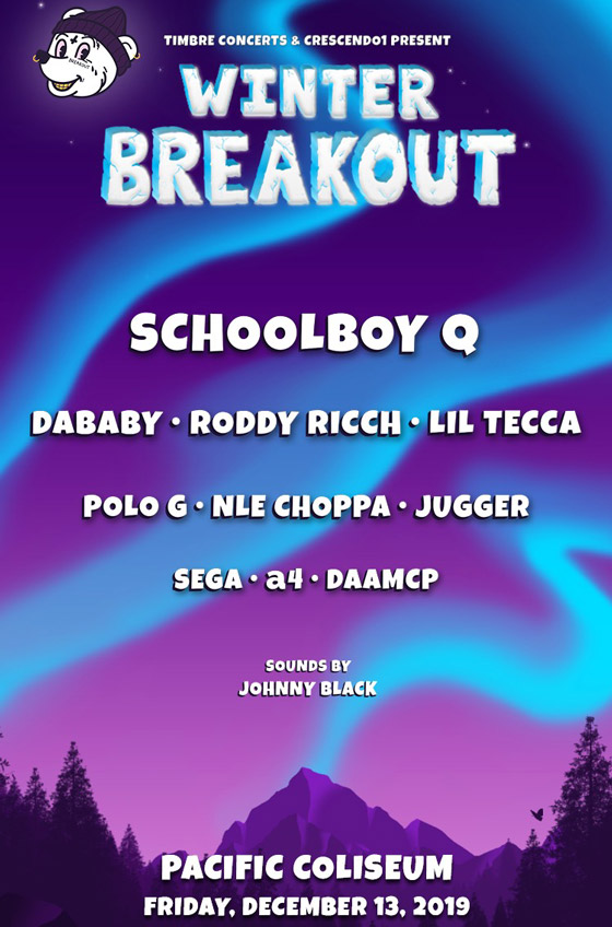 Vancouver's Winter Breakout Gets ScHoolboy Q, DaBaby for 2019 Edition