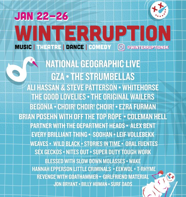 Saskatoon's Winterruption Announces 2020 Lineup with GZA, Whitehorse, the Strumbellas