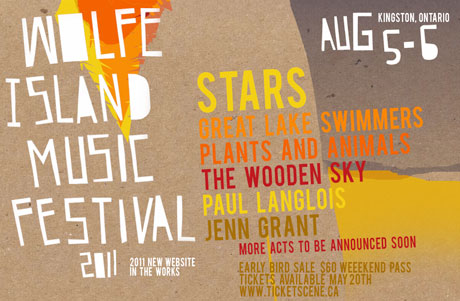 Kingston, ON's Wolfe Island Music Fest Gets Stars, Plants and Animals, Great Lake Swimmers for 2011