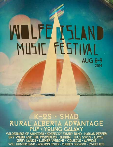 Wolfe Island Music Festival Announces 2014 Lineup with K-os, Shad, Rural Alberta Advantage