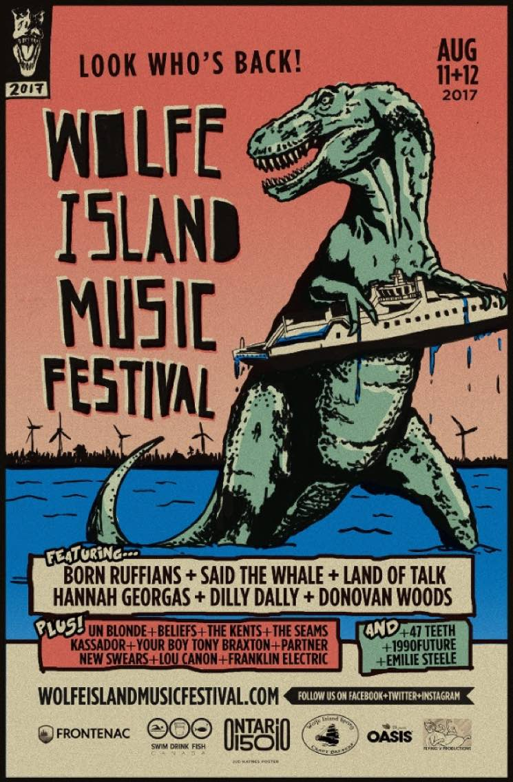 Wolfe Island Music Festival Returns for 2017 with Born Ruffians, Said the Whale, Land of Talk