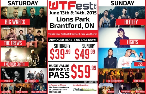​Brantford's WTFest Gets Big Wreck, Hedley, Lights