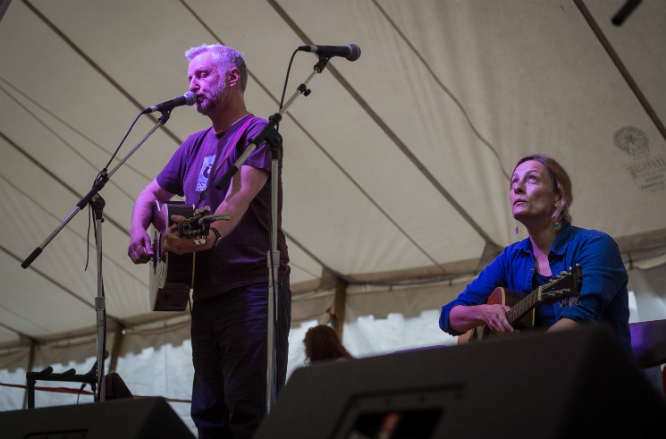 "​""Stop, Hey, What's That Sound"" featuring Billy Bragg, Sarah Harmer, Lisa LeBlanc and Leonard Sumner Island Stage, Guelph ON, July 16"