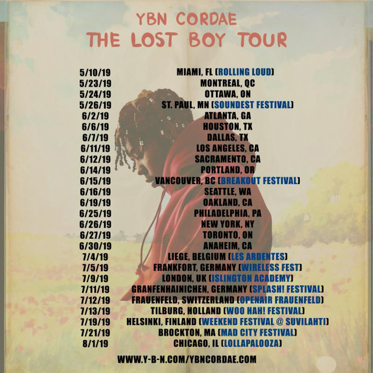 YBN Cordae to Play Canada on North American Tour